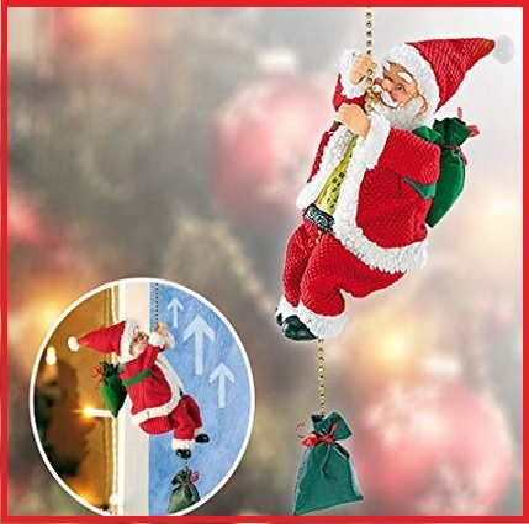 Babbo Natale In Scala Con Fune