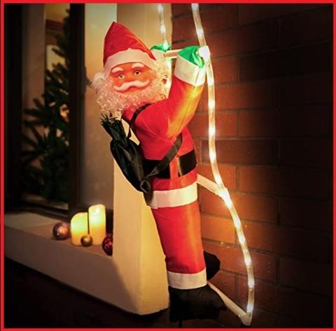 Babbo Natale Scala Luminosa