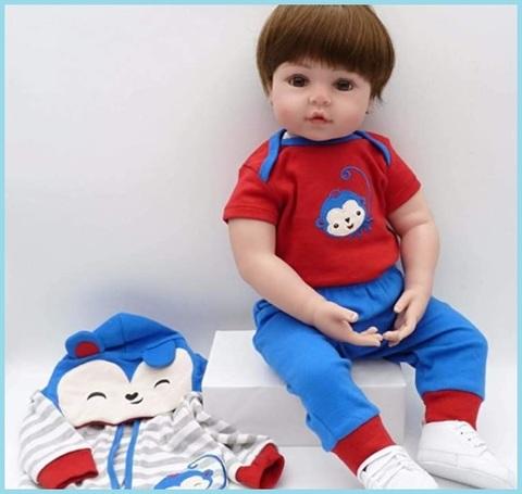 Bambole reborn maschio 55 cm