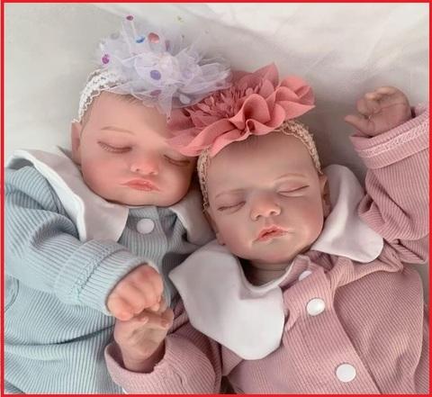 Bambole reborn gemelle femmine