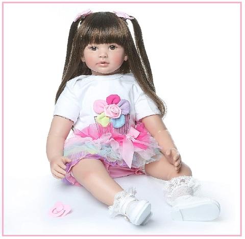 Bambole con capelli da pettinare reborn