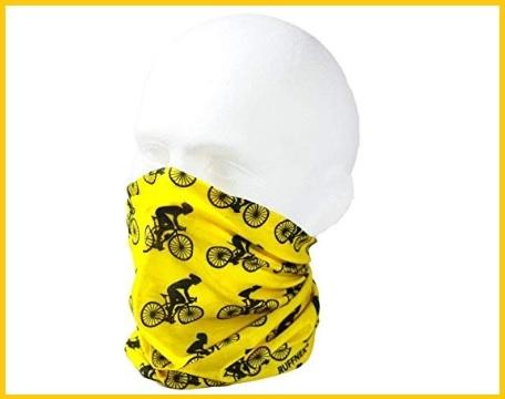 Bandana scaldacollo bici giallo e nero