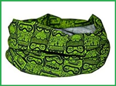Bandana scaldacollo verde in microfibra