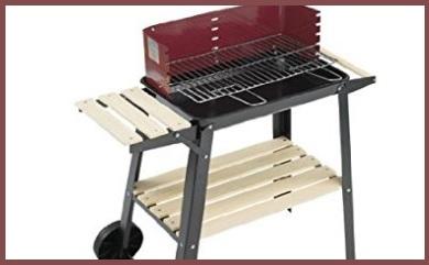 Barbecue portatile a legna con rotelle