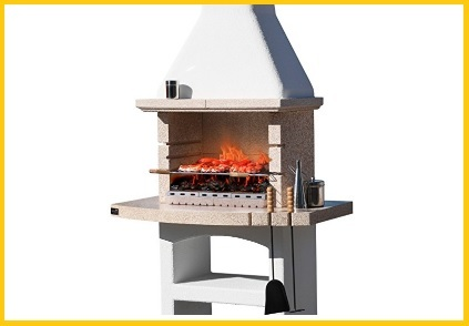 Barbecue in muratura con cappa