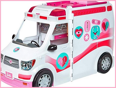 Barbie ambulanza trasformabile in clinica mobile