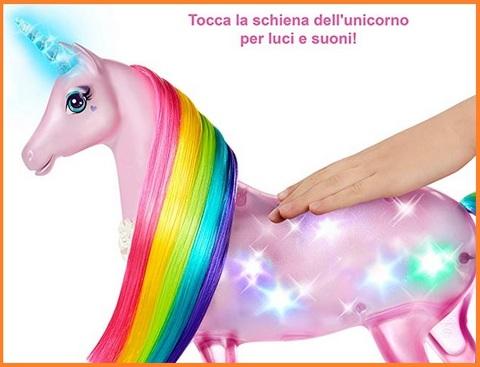 Barbie capelli arcobaleno unicorno