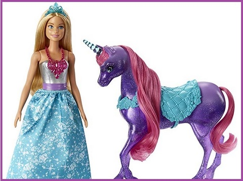 Barbie unicorno pettina e brilla | Grandi Sconti | Barbie