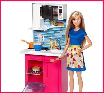 Cucina di barbie bambola