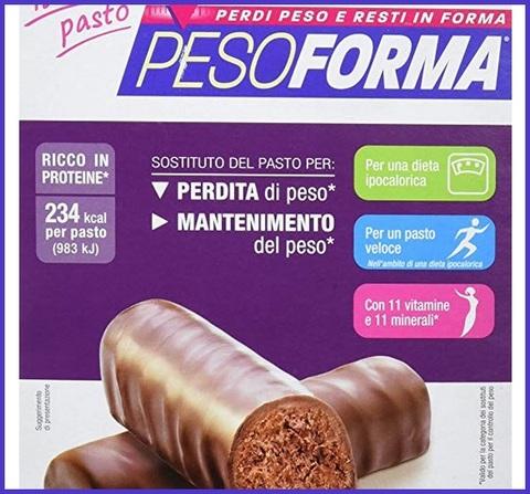 Barrette pesoforma cioccolato