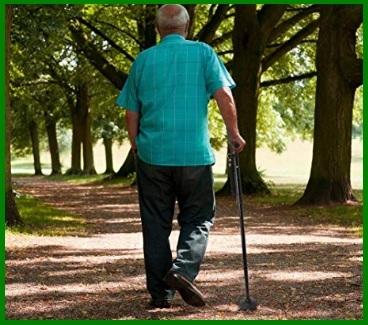 Bastone anziani antiscivolo regolabile