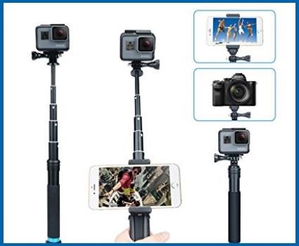 Bastone per selfie gopro con rotazione