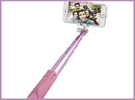 Bastone Selfie Rosa Bluetooth