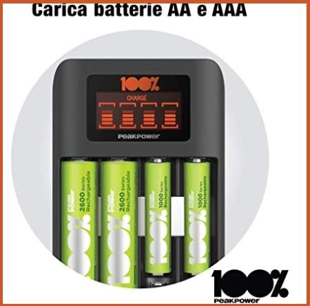 Batterie ricaricabili con caricatore