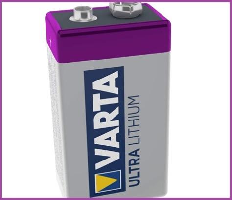 Batteria 9v litio varta