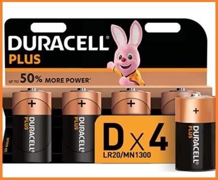 Batterie torcia duracell