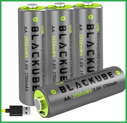 Batterie usb aa ricaricabili