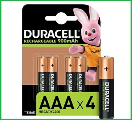 Batterie ricaricabili aaa duracell
