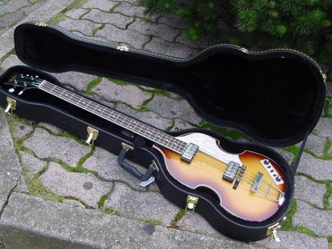 Hofner hct-500/1-sb violin bass sunburst con custodia