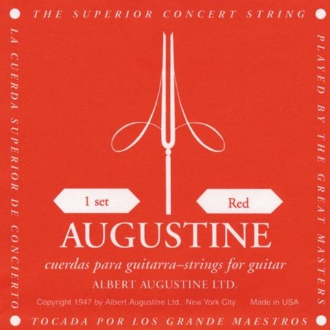 Augustine red label corde in nylon
