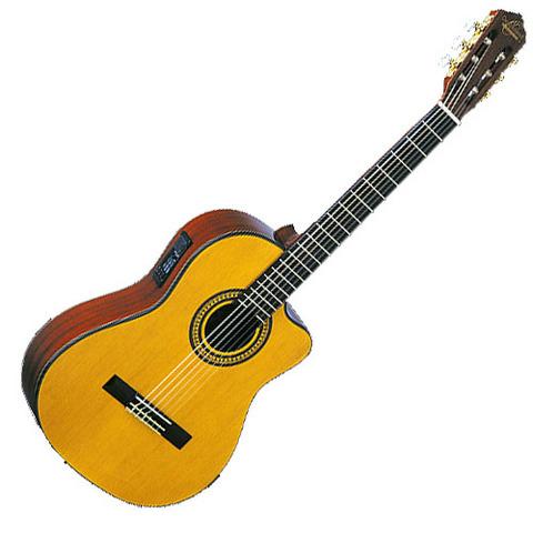 Chitarra classica elettrificata oscar schmidt oc11ce