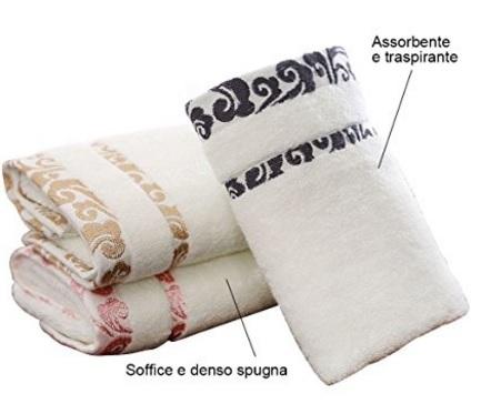 Asciugamani in cotone nuvole naturale