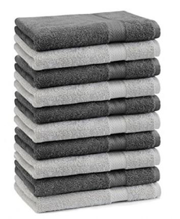 Asciugamani colorati grigio chiaro e antracite