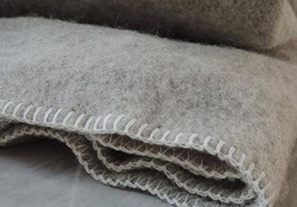 Coperta tradizionale in lana vergine francese