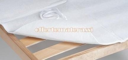 Coprirete bianco con laccetti angolari