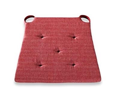 Coprisedia cuscino imbottito con lacci color rosso