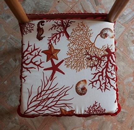 Cuscino con coralli imbottito per sedia