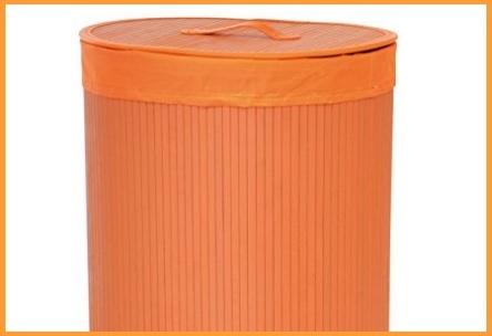 Cesto portabiancheria arancione