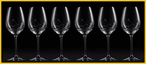 Bicchieri vino cristallo