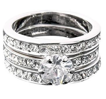 3 anelli che si completano da donna