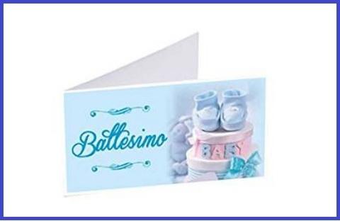 Bigliettini Bomboniere Battesimo Personalizzati
