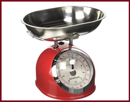 Bilancia da cucina vintage rossa
