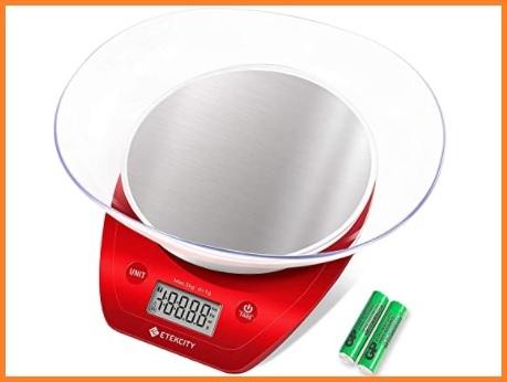 Bilancia da cucina digitale rossa