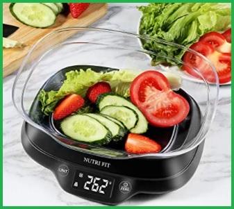 Bilancia da cucina digitale di precisione con ciotola