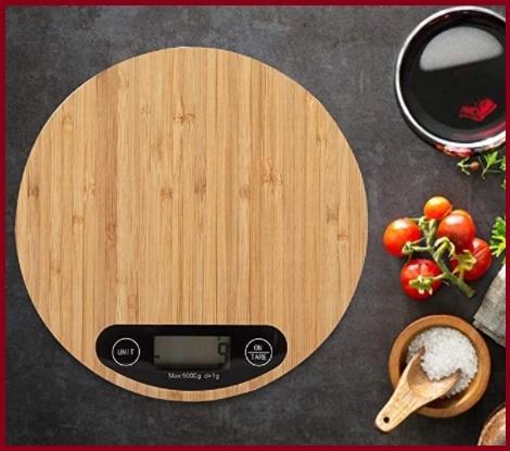 Bilancia Da Cucina Digitale In Legno