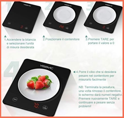 Bilancia da cucina elettronica digitale led
