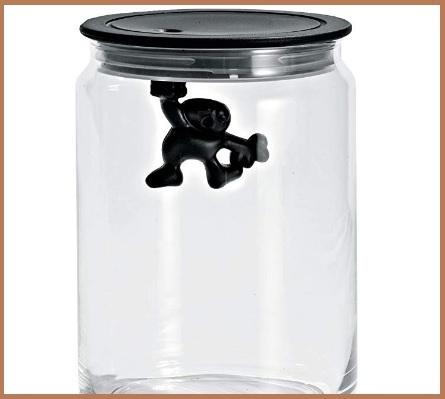 Biscottiera in vetro con coperchio
