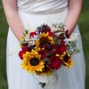 bouquet sposa girasoli e rose