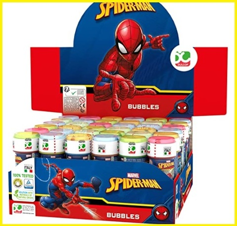 Bolle di sapone spiderman 36 pezzi