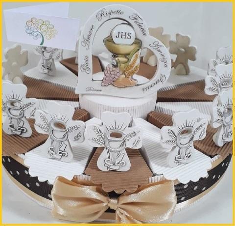 Bomboniere prima comunione bambino torta fiat