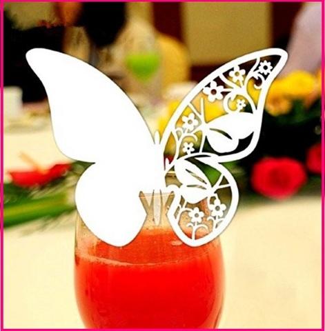 Bomboniere matrimonio in cristallo farfalla segnaposto