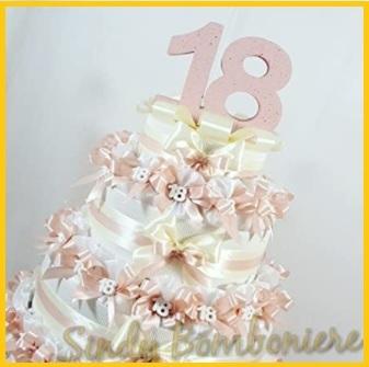 Bomboniere compleanno 18 anni torta finta