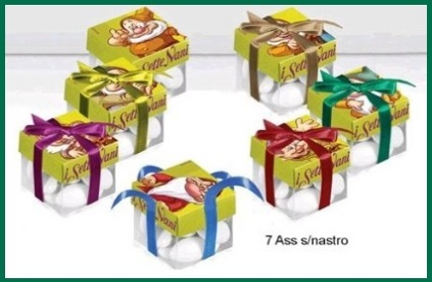 Bomboniere scatoline 7 nani della disney