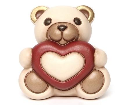 Statuetta in ceramica della thun teddy maxi