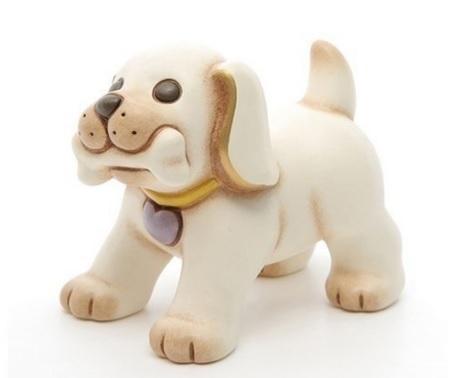 Statuetta a forma di cane con osso thun