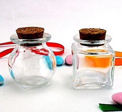 Bomboniere a forma di barattoli in vetro
